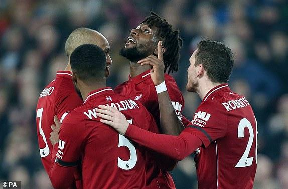 """1551303015741 lc galleryImage Liverpool s Divock Origi  - ليفربول يضرب بخماسية والسيتي يواصل الملاحقة مع ختام الجولة 28 في """" البريمرليج """""""