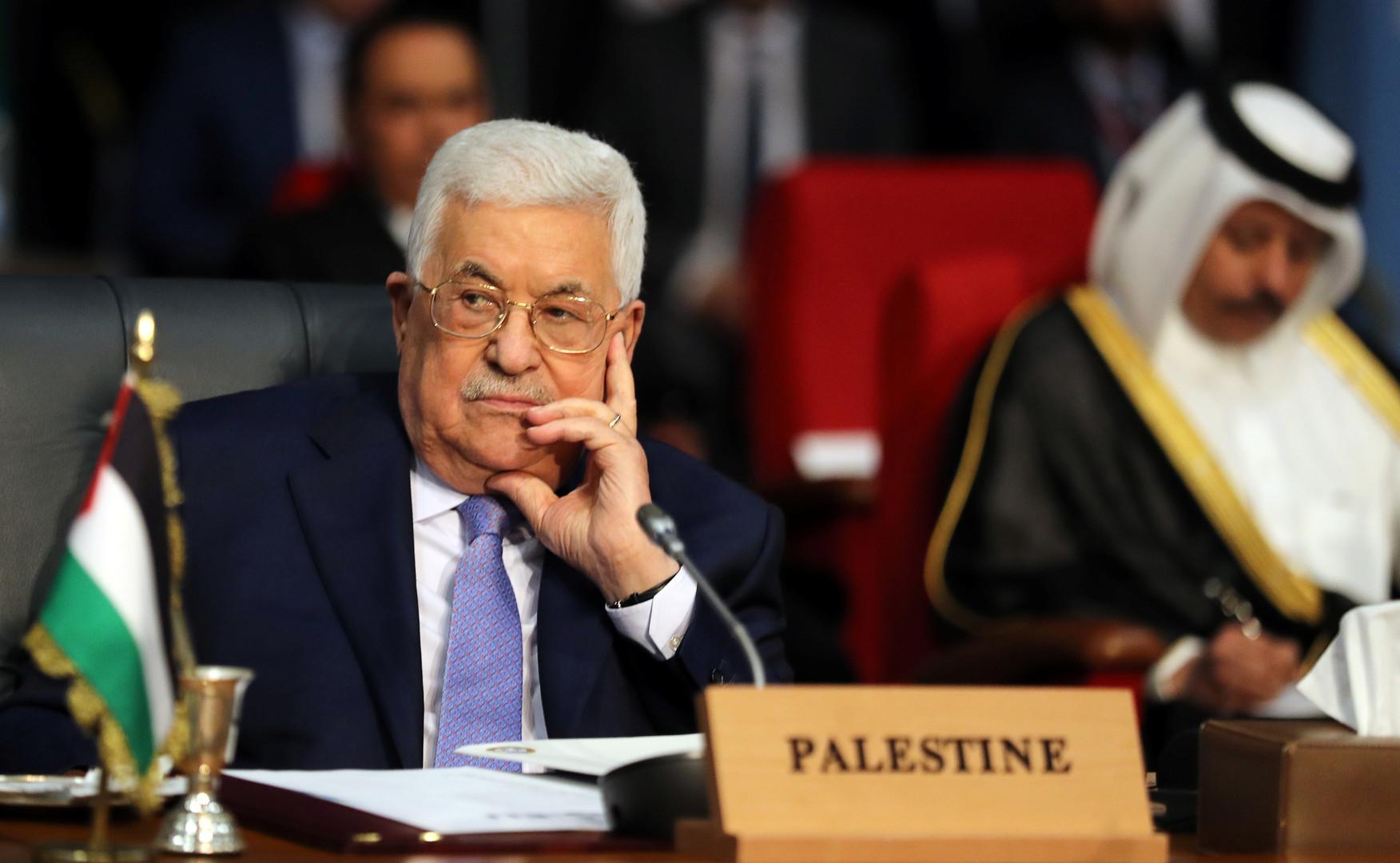 الرئيس الفلسطيني محمود عباس.jpg2  - عباس: الاتفاقات مع إسرائيل ستعتبر منتهية حال فرض سيادتها على أي جزء بفلسطين