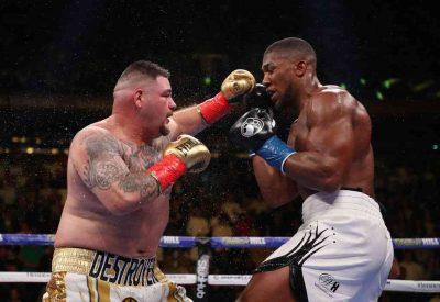 """Anthony Joshua2 1 400x275 - كيف سقط بطل الملاكمة جوشوا أمام """"السمين"""" رويز في النزال المثير للجدل ؟"""