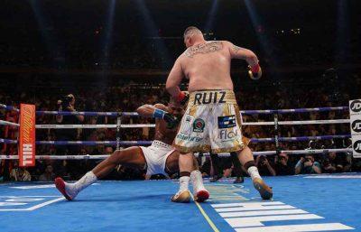 """Anthony Joshua3 400x257 - كيف سقط بطل الملاكمة جوشوا أمام """"السمين"""" رويز في النزال المثير للجدل ؟"""