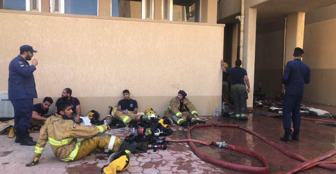Capture 7 1 - لا اصابات بشرية في حريق كلية العلوم