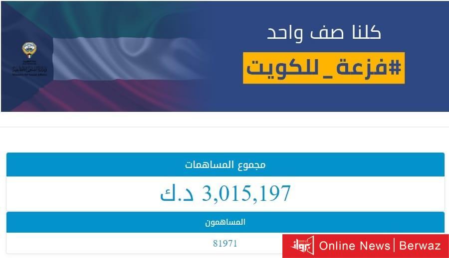 2256 - «فزعة للكويت» تجمع 9 ملايين و 169 ألف دينار