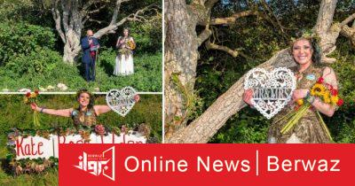 british woman married tree 2 400x210 - بريطانية تحتفل بعيد زواجها من شجرة
