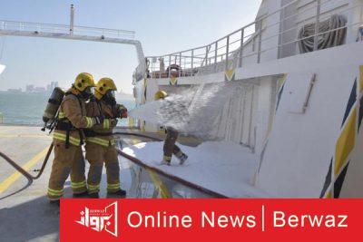 إدارة الإطفاء البحري 400x267 - إدارة الإطفاء البحري تجرى تدريبات مشتركة مع عدة جهات حكومية