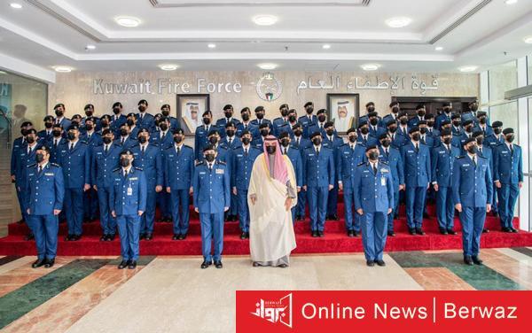 وزير الداخلية - وزير الداخلية يشهد تخريج كوكبة جديدة من ضباط قوة الاطفاء