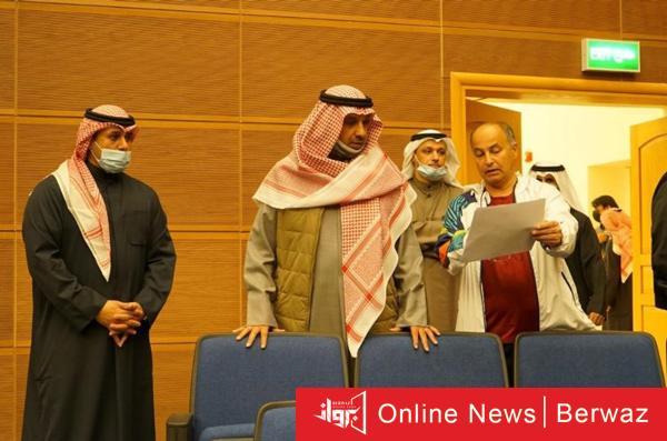 هيئة الرياضة - مدير هيئة الرياضة يتفقد المبنى الجديد للجنة الأولمبية بمركز جابر الأحمد