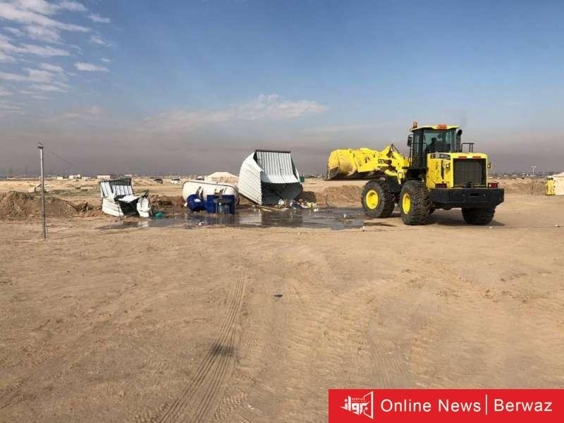 870544 - إزالة 60 مخيما مخالفا في الدائري السابع بأمر البلدية