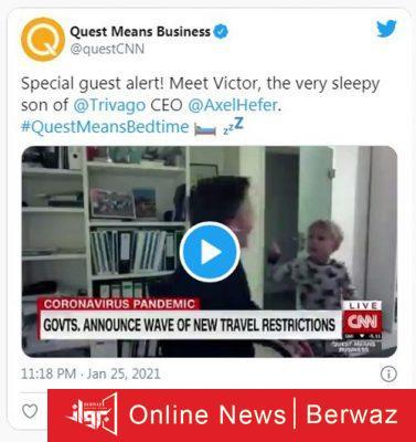 Trivago 377x400 - ابن رئيس شركة تريفاجو يقتحم مقابلته مع CNN من أجل النوم