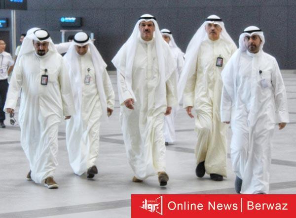 الشيخ سلمان الحمود الصباح - جولة تفقدية لرئيس الطيران المدنى للفنادق المكلفة بالحجر المؤسسى