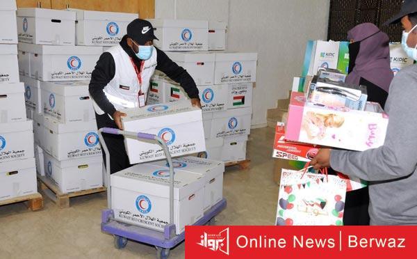 الهلال الأحمر - الهلال الأحمر يكثف جهوده الإنسانية لمساعدة الأسر المتعففة