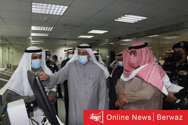 ثامر علي صباح يزور قطاع شؤون الإقامة - وزير الداخلية يزور قطاع شؤون الإقامة لمتابعة سير العمل