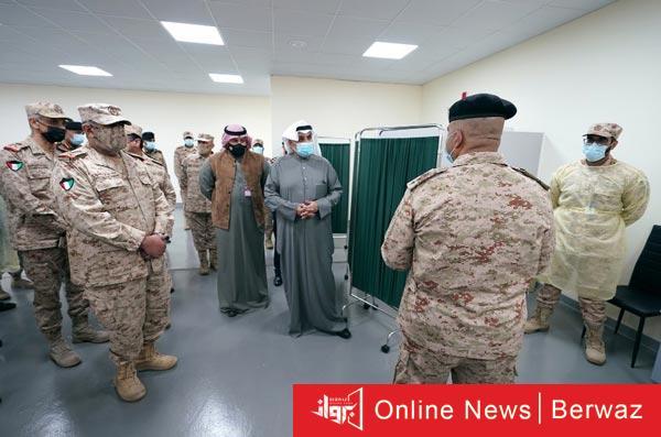 زيارة الشيخ حمد الجابر - زيارة الشيخ حمد الجابر لهيئة الخدمات الطبية بوزارة الدفاع