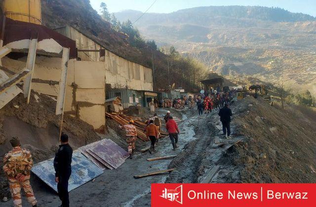 ضحايا الانهيار الجليدي في الهند - إرتفاع قتلى حادث إنهيار الكتلة الجليدية بالهند إلى 62 ضحية.. لا يزال 142 في عداد المفقودين