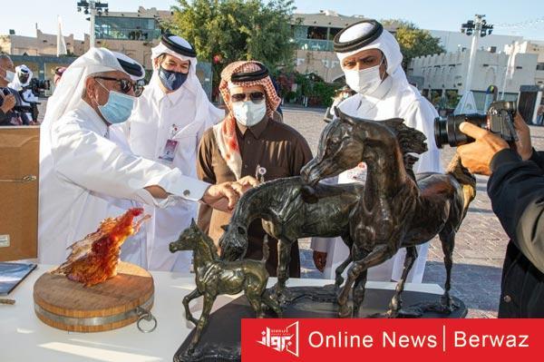 مهرجان الخيل العربية - بدء فعاليات مهرجان الخيل العربية فى قطر بمشاركة كويتية