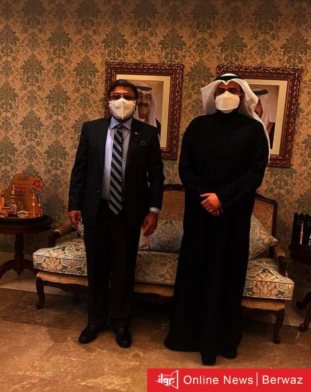 901360 - باسل الصباح يعرض لسفير الهند خطوات الكويت في مواجهة كورونا
