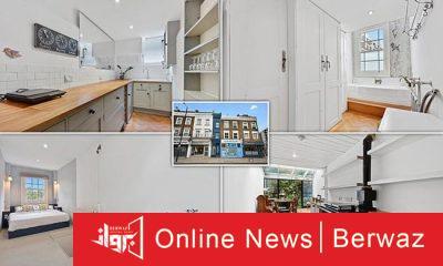London Skinny House2 400x240 - أضيق منزل في لندن يعرض للبيع مقابل 1.3 مليون دولار