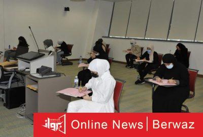 الطلاب يؤدون إختبارات القدرات 2 400x271 - آلاف الطلاب يؤدون إختبارات القدرات الأكاديمية بجامعة الكويت