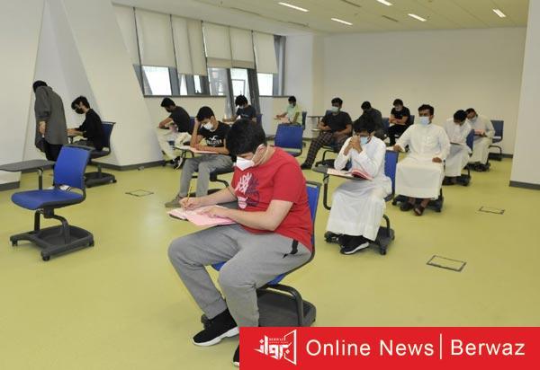 الطلاب يؤدون إختبارات القدرات - آلاف الطلاب يؤدون إختبارات القدرات الأكاديمية بجامعة الكويت
