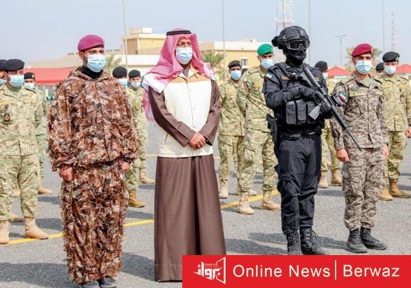 الفريق أول متقاعد الشيخ أحمد نواف - نائب رئيس الحرس يقوم بزيارة تفقدية لمعسكرات الحرس الوطنى