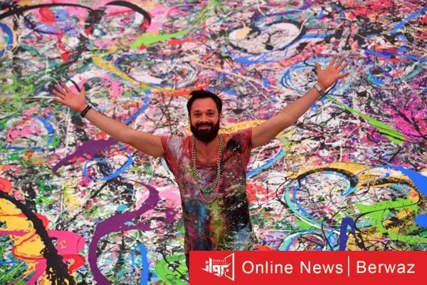 لوحة رحلة الإنسانية - بيع أكبر وأغلى لوحة فنية فى العالم فى مزاد خيرى بالإمارات