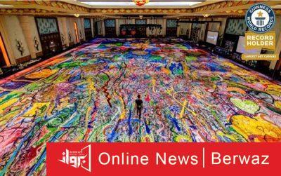 لوحة رحلة الإنسانية2 400x251 - بيع أكبر وأغلى لوحة فنية فى العالم فى مزاد خيرى بالإمارات