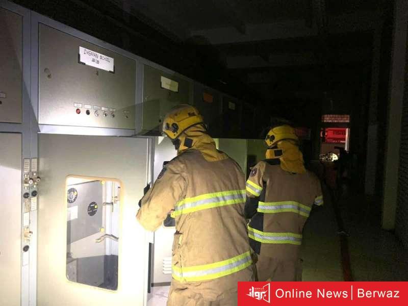913080 - الإطفاء تنجح في إخماد حريق محول كهرباء بمنطقة دسمان