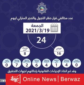 Ew6TEe4XAAA74L2 - ضبط 24 مخالف خالفوا لحظر التجول بينهم 16 مواطن