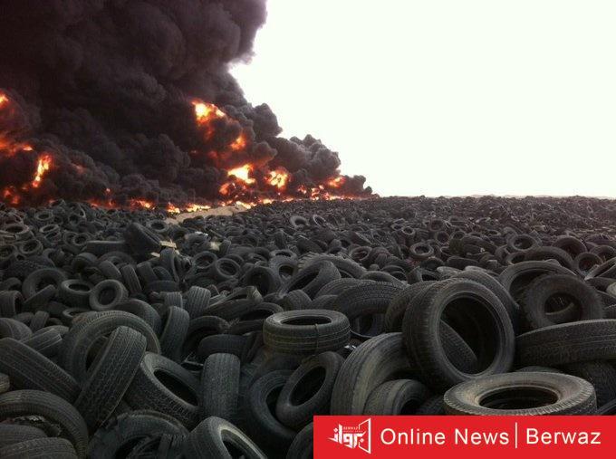 cats 11 - عاجل.. الإطفاء تحاول السيطرة على حريق إطارات ضخم على طريق السالمي