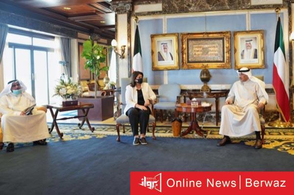 رئيس الوزراء يستقبل وزيرة الأشغال - رئيس الوزراء يستقبل وزيرة الأشغال لتسليم خطة الوزارة لكويت 2035