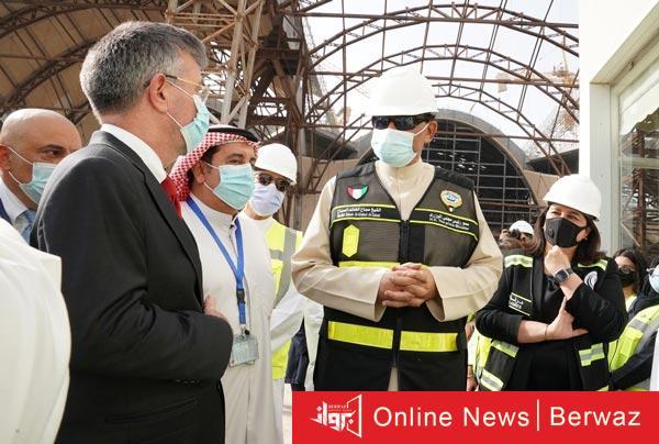 زيارة رئيس الوزراء للمبنى الجديد بمطار الكويت - رئيس الوزراء يقوم بزيارة تفقدية للمبنى الجديد بمطار الكويت
