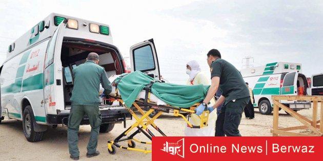 إسعاف الكويت أرشيفية - مصرع شابين كويتيين وإصابة 3 آخرين إثر إنقلاب سيارة على طريق الوفرة