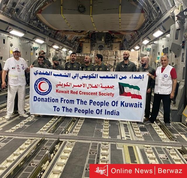 إهداء من الشعب الكويتى إلى الشعب الهندى - إنطلاق أولى طائرات المساعدات الطبية الكويتية إلى الهند
