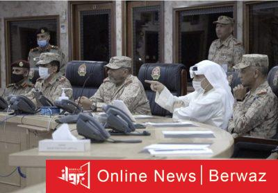 وزير الدفاع فى هيئة العمليات والخطط2 400x279 - زيارة تفقدية لوزير الدفاع الكويتى إلى مقر هيئة العمليات والخطط