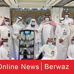 لتوزيع عبوات مياه زمزم 250x250 - السعودية تطلق روبوت ذكي لتوزيع عبوات مياه زمزم تجنباً للتلامس