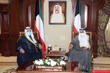 نائب سمو الأمير يستقبل رئيس الوزراء السابق الشيخ ناصر المحمد