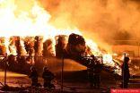 الجيش الوطني وإدارة الإطفاء ينجحان بإخماد حريق ميناء عبدالله