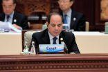 السيسي: مصر بصدد تنفيذ مشروع عملاق لتنمية محور قناة السويس