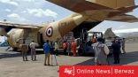 17 طائرة محملة بمساعدات مصرية تصل السودان