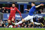 ليفربول يتعادل سلبا مع إيفرتون ويفقد فرصة الارتقاء لصدارة الدوري الإنجليزي
