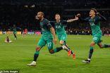 عودة مجنونة….توتنهام يفوز بثلاثية ويتأهل إلى نهائي دوري أبطال أوروبا