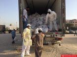 تقديم 1500 سلة غذائية للعمالة في جليب الشيوخ على يد الهلال الأحمر الكويتي