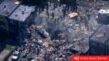 فيديو.. انفجار قوي في مدينة بالتيمور الأمريكية يسوي المنازل بالأرض