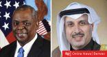وزير الدفاع الأمريكي يهاتف الشيخ حمد جابر مهنئا بالأعياد الوطنية