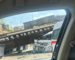 انهيار مروع لجسر الترامواي بلبنان