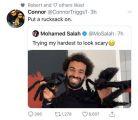 صلاح يتعرض لتغريدة عنصرية على تويتر !