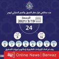 ضبط 24 مخالف خالفوا لحظر التجول بينهم 16 مواطن