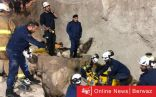 إرتفاع حصيلة وفيات حادث إنهيار الجدار الرملي في مدينة المطلاع إلى 6 و إصابة 3