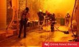 السيطرة على الحريق الذي اندلع في الشويخ الصناعية