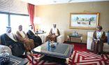الغانم يعقد اجتماع مع نظيريه العماني والقطري على هامش مؤتمر البرلماني الدولي