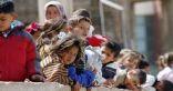 نزوح 450 الف سوري الى تركيا بسبب القصف